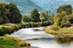 Scène de rivière, Llanrwst, Pays de Galles Photo libre de droits