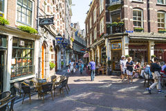 Scène de rue à Amsterdam Image stock