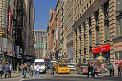 Scène de rue à New York Photographie stock