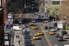 Scène de rue à New York City Images libres de droits