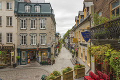 Scène de rue à Québec inférieur photos stock