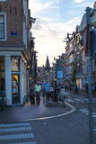 Scène de rue d'Amsterdam Photos stock