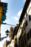 Scène de rue d'hôtel à Florence Images stock