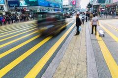 Scène de rue dans Kowloon, Hong Kong Photographie stock libre de droits