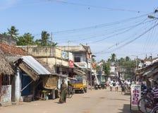 Scène de rue dans Kumbakonam près de temple de Mahalingeswarar Image libre de droits
