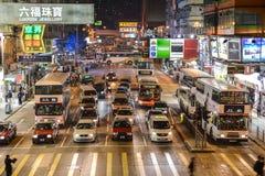 Scène de rue dans Mongkok, Hong Kong Photographie stock libre de droits