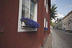 Scène de rue dans Porvoo Finlande image stock