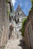 Scène de rue de Blois France photographie stock libre de droits