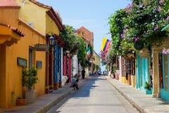 Scène de rue de Carthagène, Colombie photos stock