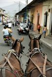 Scène de rue de Grenade Nicaragua Photos stock