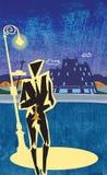 Scène de rue de klaxon de jazz Images libres de droits