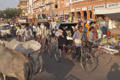 Scène de rue de l'Inde Photos stock