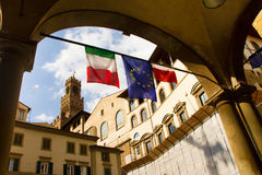 Scène de rue de l'Italie à Florence Image libre de droits
