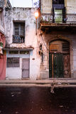 Scène de rue de La Havane, réverbère Photos libres de droits