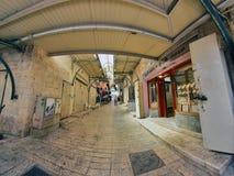 Scène de rue de la ville de Nazareth Photographie stock