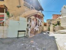 Scène de rue de la ville de Nazareth Images stock