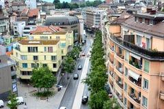 Scène de rue de Lausanne Photographie stock