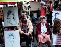 Scène 7 de rue de Paris Photo libre de droits