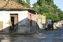 SCÈNE DE RUE DU CUBA TRINIDAD Photographie stock