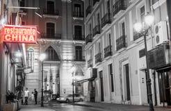 Scène de rue et de bâtiment d'Alicante Espagne images stock