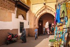 Scène de rue marrakech morocco Photographie stock libre de droits