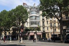 Scène de rue de Paris, France Images stock