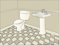Scène de salle de bains Photographie stock libre de droits