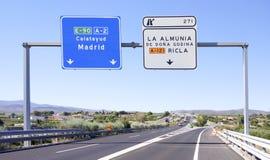 scène de signe de circulation routière Image libre de droits