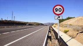 scène de signe de circulation routière Photo libre de droits