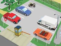 Scène de stationnement Photo libre de droits