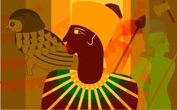 Scène in de stijl van Egypte Stock Foto's