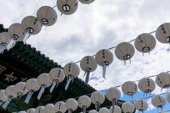 Scène de temple de Bongeunsa dans le secteur de Gangnam, ville de Séoul photographie stock libre de droits