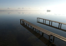 Scène de Tranquille à un lac Photos libres de droits