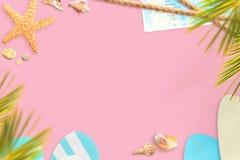 Scène de vacances d'été avec des couleurs en pastel Photos libres de droits