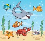 Scène de vie marine illustration de vecteur