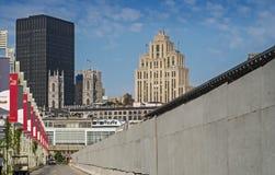 Scène de vieux port de Montréal Images stock