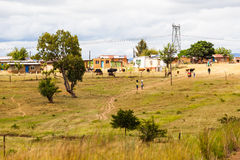 Scène de village Image stock