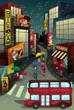 Scène de ville illustration stock