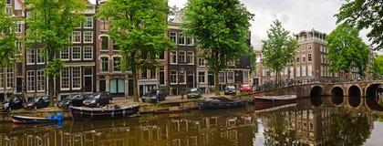 Scène de ville d'Amsterdam Image libre de droits