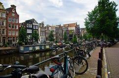 Scène de ville d'Amsterdam Image stock