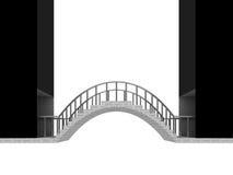 Scène de voûte de pont de connexion d'isolement sur le blanc Photo libre de droits