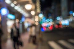 Scène defocused urbaine de nuit Photos libres de droits