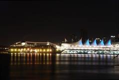 scène du centre Vancouver de nuit Images libres de droits