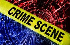 Scène du crime cassée de fenêtre image stock