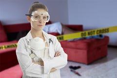 Scène du crime - docteur légal image stock