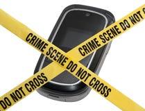 Scène du crime mobile Photographie stock