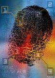 Scène du crime - scanner biométrique de sécurité - identification illustration libre de droits