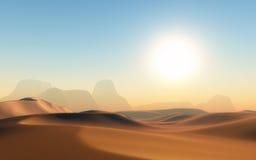 scène du désert 3D Photographie stock