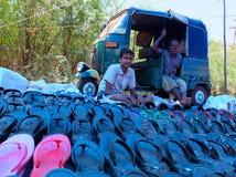 Scène du marché dans l'Inde Photos stock
