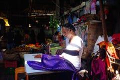 Scène du marché, Inde photographie stock